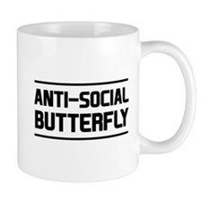 Anti-Social Butterfly Mugs