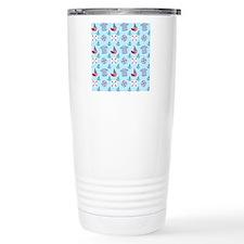 nautical-blue-pattern Travel Mug