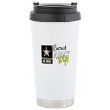 Proud Army Wife Star Travel Mug