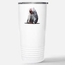 vector graphic polygon art baboon Travel Mug