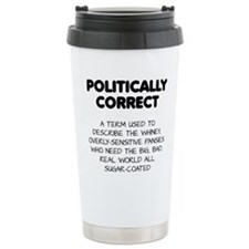 Politically Correct Pansies Travel Mug