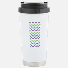 Colorful Chevron Patter Stainless Steel Travel Mug