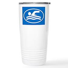 Cute Swim oval Travel Mug