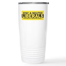 Cute Spay and neuter liberal Travel Mug
