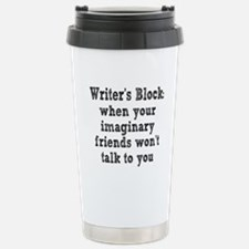 writers-block3.png Stainless Steel Travel Mug