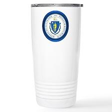 Massachusetts Seal Travel Mug
