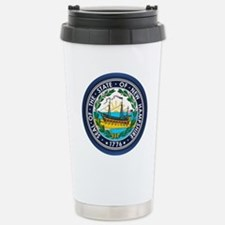 New Hampshire Seal Stainless Steel Travel Mug