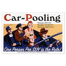 Carpooling Large Poster