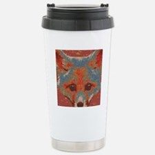 Red Fox Print Travel Mug