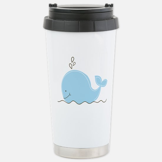 Little Blue Whale Stainless Steel Travel Mug