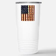 Patriotic Old Glory: Stainless Steel Travel Mug