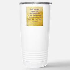 Good Morning This is Go Travel Mug