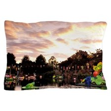 Montreal. Chinese Garden at sunsettrea Pillow Case