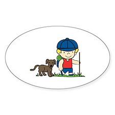 Hiker Dog Decal