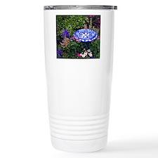 Blue Birdbath Travel Mug
