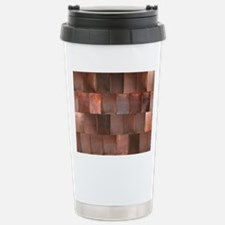 Distressed Copper Metal Stainless Steel Travel Mug