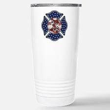 Patriotic Fire Dept Stainless Steel Travel Mug