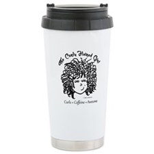 Curly Haired Girl Thermos Mug