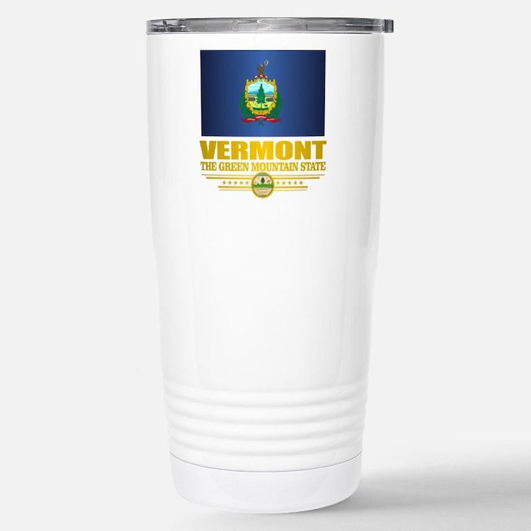Vermont Flag (v15) Travel Mug