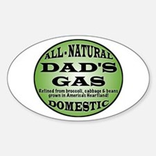 Dad's Gas Oval Decal