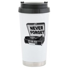 Never Forget Record Player Turntable LP Travel Mug