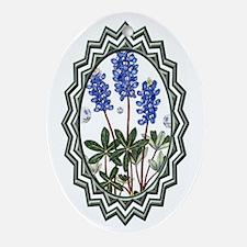 Texas BlueBonnets Oval Ornament