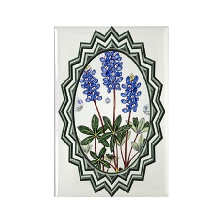 Texas BlueBonnets Rectangle Magnet (100 pack)