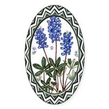 Texas BlueBonnets Oval Decal