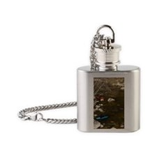Canoeing and kayaking the Ashuelot  Flask Necklace