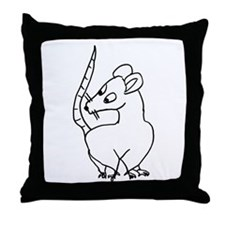 The Simple Pack Rat Throw Pillow