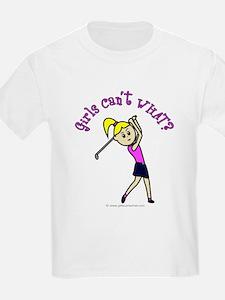 Light Skin Golfer Kids T-Shirt