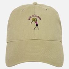 Light Skin Golfer Baseball Baseball Cap