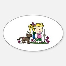 Hiker Girl Decal