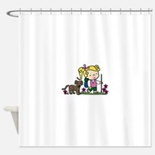Hiker Girl Shower Curtain