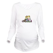 Hiker Girl Long Sleeve Maternity T-Shirt