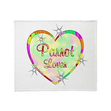 Parrot Lover Throw Blanket