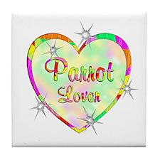 Parrot Lover Tile Coaster