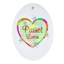 Parrot Lover Ornament (Oval)