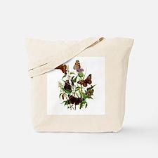 BUTTERFLIES & PURPLE THISTLE Tote Bag