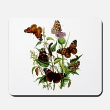 BUTTERFLIES & PURPLE THISTLE Mousepad