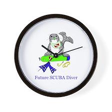 Future SCUBA Diver Wall Clock