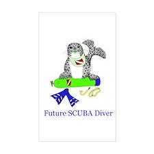 Future SCUBA Diver Rectangle Decal