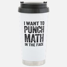 Punch Math In The Face Travel Mug