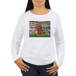 Lilies and Ruby Cavalier Women's Long Sleeve T-Shi