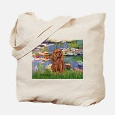 Lilies and Ruby Cavalier Tote Bag