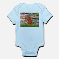 Lilies and Ruby Cavalier Infant Bodysuit