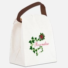 Personalizable. Ivy Rose Canvas Lunch Bag