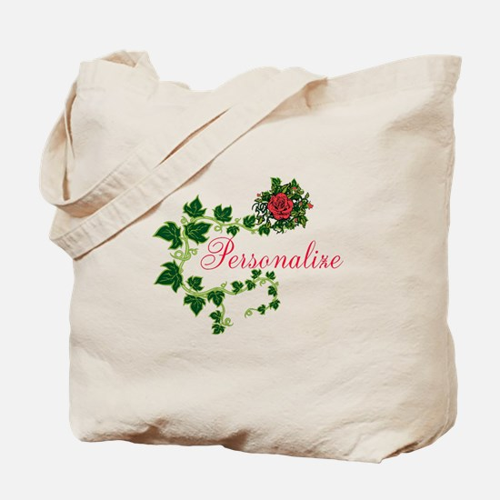 Personalizable. Ivy Rose Tote Bag