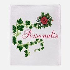Personalizable. Ivy Rose Throw Blanket