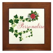 Personalizable. Ivy Rose Framed Tile